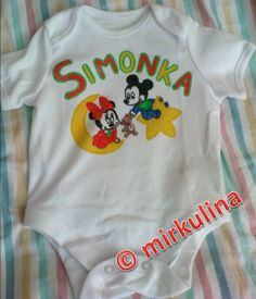 drawing on baby bodysuit