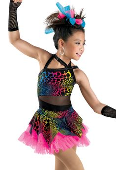 Multi-Color Animal Print Leotard; Weissman Costume