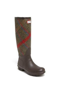 Hunter 'Original Mallalieus' Plaid Rain Boot (Women) available at #Nordstrom