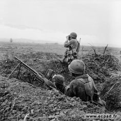 Much of the Dien Bien Phu battlefield was muddy, flat and largely devoid of cover - the Viet Minh would resort to digging approach trenches from which they could attack French positions such as this one.