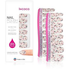 Incoco Nail Polish Appliques-Nail Art Designs | Ulta Beauty Gel Manicure, Clean Nails, Fun Nails, Nail Care Routine, Damaged Nails, Nail Polish Strips, White Acrylic Nails, Healthy Nails