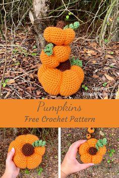Crochet Ideas, Crochet Projects, Crochet Patterns, Diy Projects, Knit Or Crochet, Free Crochet, Yarn Crafts, Sewing Crafts, Crochet Pumpkin