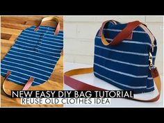 14 diy Bag from old clothes ideas Crossbody Shoulder Bag, Crossbody Bag, Recycle Old Clothes, Making Clothes From Old Clothes, Diy Clothes Bag, Diy Bags Tutorial, Bag Tutorials, Diy Handbag, Bag Patterns To Sew