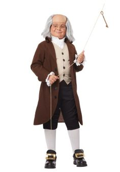 Become one of the our nation's greatest figures with this Boys Benjamin Franklin Costume! All we ask you don't actually fly a kite in a lightning storm!