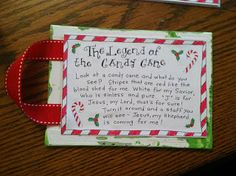 Leapfrog & Ladybugs: Candy Cane Craft {how to}; legend of the candy cane...back of fingerprint candy cane craft.