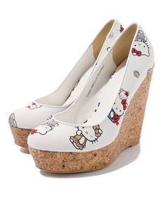 Exclusively sold Hello Kitty x Nina mew wedges pumps shoes