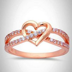 Promise Ring Interlocking crisscross infinity Rose Gold Heart Ring 925 Sterling Silver Round Clear CZ Heart Engagement Valentines Love Gift Source by Rose Gold Heart Ring, Rose Gold Promise Ring, Heart Promise Rings, Rose Gold Jewelry, Sterling Silver Jewelry, Silver Earrings, Gold Jewellery, Jewellery Shops, Glass Jewelry