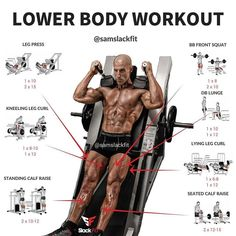 LOWER BODY WORKOUT⠀⠀ The most effective training program is one you enjoy and stay consistent with Related posts:ABS workout workout and ButtSeated dumbbell front raiseRead More → healthyandinshape. Fitness Workouts, Fitness Motivation, Fitness Gym, Weight Training Workouts, Muscle Fitness, Fun Workouts, Fitness Tips, Workout Days, Everyday Workout