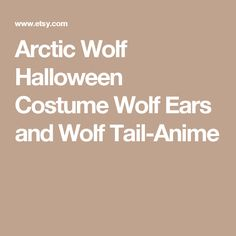 Arctic Wolf Halloween Costume Wolf Ears and Wolf Tail-Anime