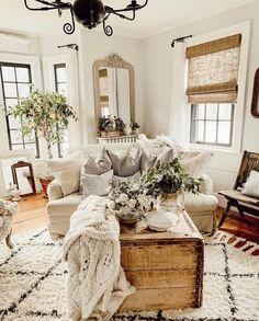 best cozy farmhouse living room decor ideas 42 ~ my.me best cozy farmhouse living room d. Country Stil, Country Farmhouse Decor, Farmhouse Style Kitchen, Farmhouse Ideas, Modern Farmhouse, French Country, Country Living, Modern Country, Vintage Farmhouse