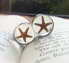 """Real Star Fish Plugs made with resin custom gauges size 5/8"""", 3/4"""", 7/8"""", 16mm, 19mm, 22mm on Etsy, $38.00"""
