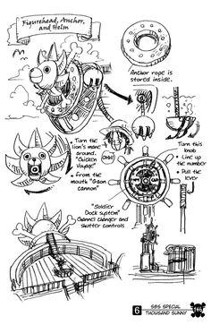 14 best thousand sunny blueprint images on pinterest manga anime thousand sunnys figurehead helm and anchors malvernweather Choice Image