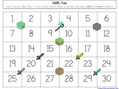 Minecraft Kindergarten Printables - 1+1+1=1