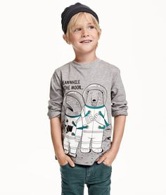 Printed Long-sleeved T-shirt | H&M saved by #ShoppingIS