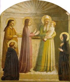 Fra Angelico - Renaissance - Presentation of Jesus in the Temple Fra Angelico, Religious Paintings, Religious Art, Religious Icons, Italian Renaissance, Renaissance Art, Saint Dominique, Jesus In The Temple, St John The Evangelist
