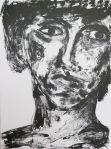 Portrait I, lithography on paper, 28,5 x 38 cm, 2012