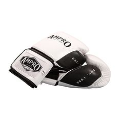 Ampro Madison Mkii Lace Up Sparring Gloves White Black