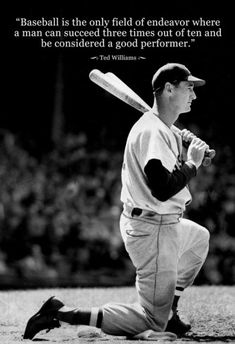 Ted Williams Baseball Famous Quote Archival Photo Poster Posters from AllPosters.com - $8.99