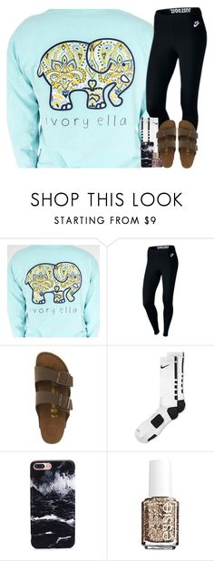 """""""june 9th rtd"""" by arielforlife ❤ liked on Polyvore featuring NIKE, Birkenstock, Essie and Morphe"""