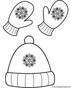winter hat pattern 2 | Printables | Pinterest | Winter, Preschool ...