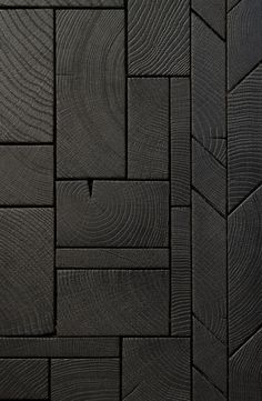 End Grain Wood Blocks bois debout composed as easytoinstall boards resulting in a contemporary endgrain marquetry Design by Raphael Navot and edited by Oscar Ono Paris. Current Picture, Charred Wood, Wall Cladding, Timber Cladding, Wall And Floor Tiles, Wood Surface, Wall Treatments, Wooden Walls, Wood Blocks