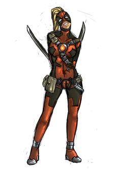 Lady Deadpool by Idioluck on DeviantArt