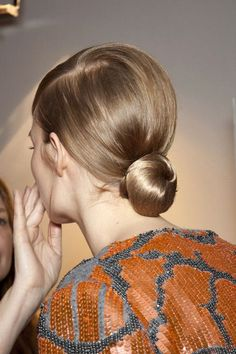 Love this low bun