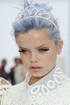 pastel blue hair with a tiara... POST YOUR FREE LISTING TODAY! Hair News Network. All Hair. All The Time. http://www.HairNewsNetwork.com