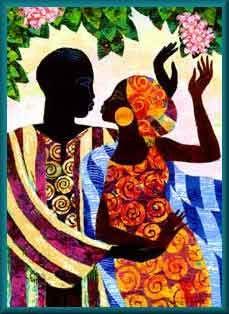 """""""In the garden"""" by Keith Mallett."""