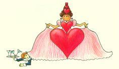 Pien & de prinsen. Nou ja, in dit geval prinses. ;) Illustratie uit kinderboek PIEN, Myrthe v/d Meer (voorjaar 2016)