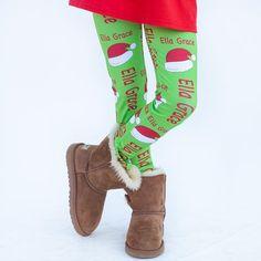 Girls Santa Hat Arden Leggings