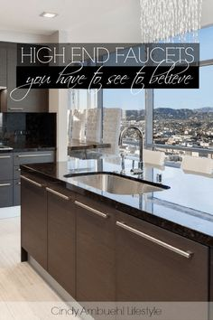 High End Kitchen Faucets You Have to See to Believe Kitchen Faucets Pull Down, Kitchen Faucet Reviews, Best Kitchen Faucets, Kitchen And Bath, Decor Interior Design, Interior Decorating, Solid Surface Countertops, High End Kitchens, Luxury Decor