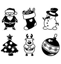 kerstman - kerstsok - sneeuwpop - sneeuwmadn - kerstboom - rendier - kerstbal - kerst - cameo