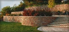 Patio design ideas with stone wall retainers and pavers / Family Focus Blog great for #gardening beds