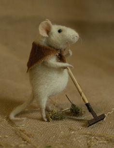 Stuffed Animals by Natasha Fadeeva - raking mouse