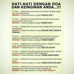 Hati-hati dengan doa :))