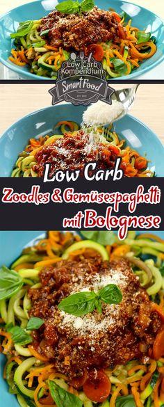 Wer liebt sie nicht – die klassische Bolognese? Am liebsten natürlich mit Spaghetti  Jedoch will Pasta leider nicht so recht in einen Low-Carb Ernährungsplan passen. Aber zum Glück gibt es sehr leckere und obendrein noch gesunde Alternativen zur üblichen Pasta aus Hartweizen. Mache deine Spaghetti doch einfach mal aus Zucchini und anderen Gemüsesorten, wie Aubergine oder Karotten – sieht toll aus und schmeckt  Die Zoodles, Zucchini Spaghetti oder auch als Gemüsespaghetti bekannt, gehören zu