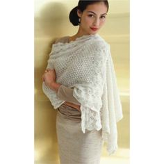 Such a beautiful shawl from Vogue Knitting.  I might have to make this soon.