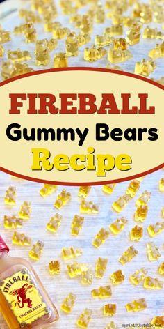 Fireball Recipes, Jello Shot Recipes, Alcohol Drink Recipes, Candy Recipes, Fireball Jello Shots, Jello Shooters, Whiskey Recipes, Salad Recipes, Cocktail Drinks