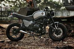 "2014 Kawasaki Versys 650 Street Tracker ""The Temper"" by Studio Motor #motorcycles #streettracker #motos | caferacerpasion.com"