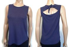 Old Navy Tie Back Top Womens Size Small Blue Cutout Linen Blend Sleeveless Tank #OldNavy #Basic #Casual Tie Backs, Underarm, Sewing Ideas, Athletic Tank Tops, Old Navy, Blouses, Casual, Shirts, Fashion