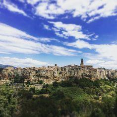 Italy, Pitigliano ...gazing at citta del tufa from a distance