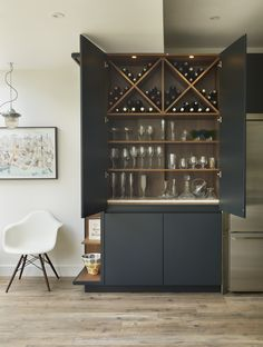 Incredible bar cabinet with wine storage as if roundhouse urbo matt lacquer Bar Interior, Interior Design, Bar Furniture, Kitchen Furniture, Furniture Design, Furniture Online, Modern Bar Cabinet, Muebles Living, Bar Cart Decor