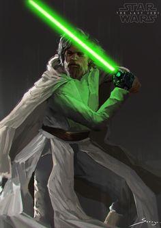 "wearepaladin: ""Rey and Luke Skywalker by Sarayu Ruangvesh """