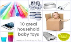 Baby toys that you already have in the house. These are our all-time favorite household baby toys.