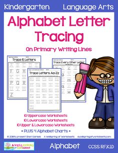 Alphabet Letter Tracing on Primary Writing LinesDo your kids need lines to guide them to write their letters? Well then, here you go! Stop and take a look at this set! Cursive Alphabet, Alphabet Charts, Alphabet Coloring Pages, Spanish Alphabet, Tracing Letters, Preschool Letters, Upper And Lowercase Letters, Lower Case Letters, Handwriting Worksheets
