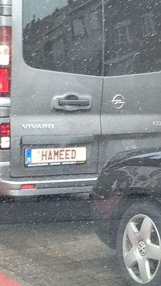 nr plaat HAMEED