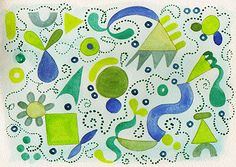 abstract watercolor painting   instructions - this would be a great analogous color scheme project
