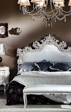 Elegant Bedroom beautiful be with you 💞 Dream Bedroom, Home Bedroom, Bedroom Decor, Master Bedroom, Bedroom Brown, Wall Decor, Gothic Bedroom, Baroque Bedroom, Baroque Decor
