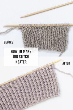 Rib Stitch Knitting, Knitting Help, Knitting Stiches, Knitting Patterns Free, Crochet Patterns, Knitting Tutorials, Knit Stitches, Knitting Ideas, Cowl Patterns
